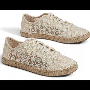 Toms Lena Natural Mosaic Mesh lace up Shoes Size#7